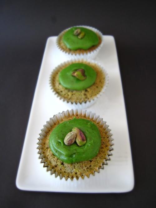 Warm Pistachio Cupcakes