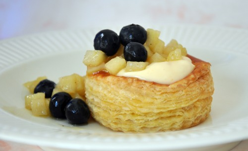 Blueberry and Apple Compote with Creme Patisserie