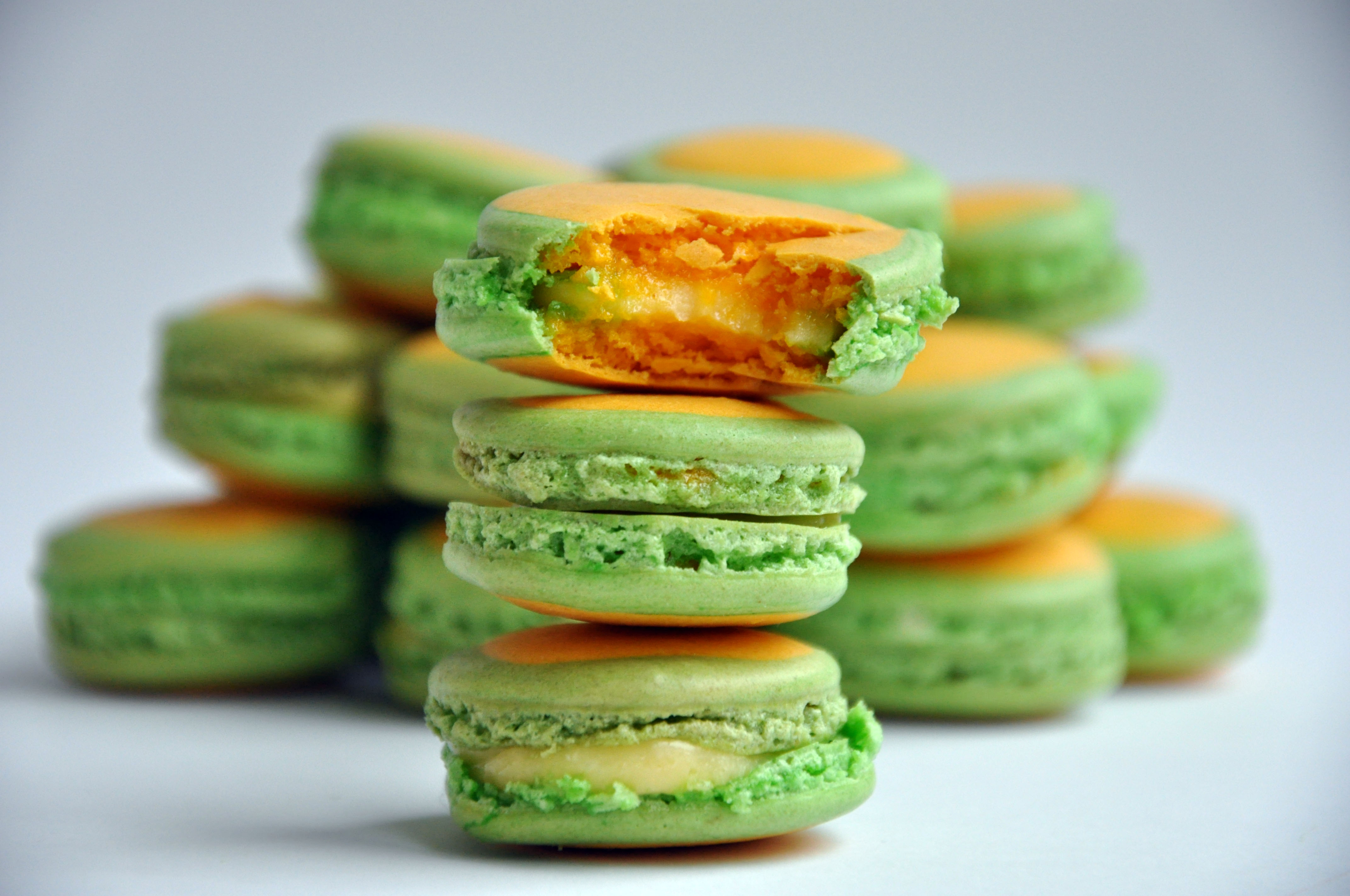... Bakers' October Challenge – Lemon Lime Macarons   Trissalicious