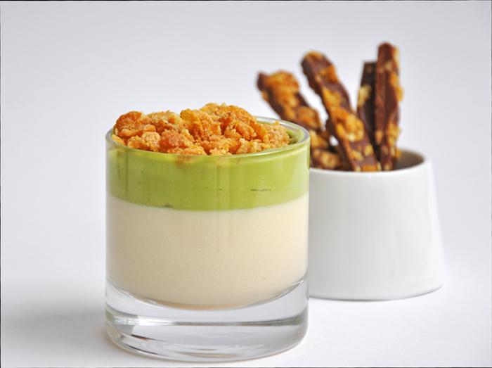 Cereal Milk Panna Cotta from Momofuku