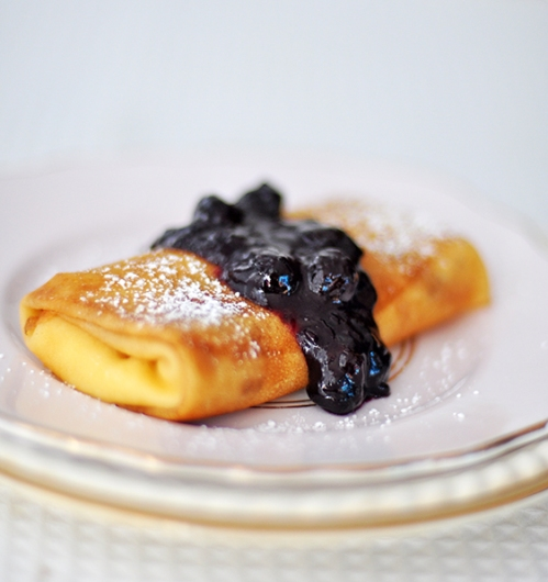 Blueberry Cheese Blintz