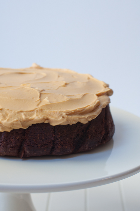Devil's Food Cake with Peanut Butter Frosting