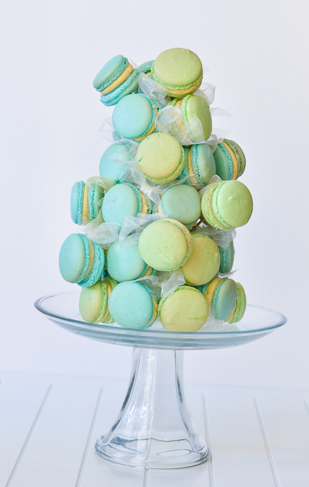 Macaron Tower with Pistachio Buttercream
