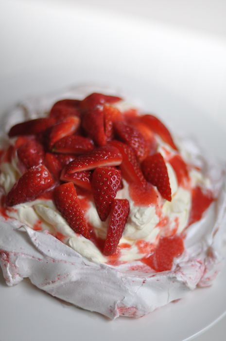 Strawberry Swirl Pavlova