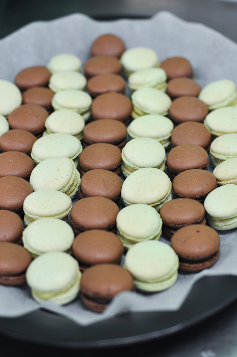 Chocolate and Pistachio Macarons at Essential Ingredient Sydney