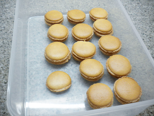 Salted Caramel Macarons by Mom
