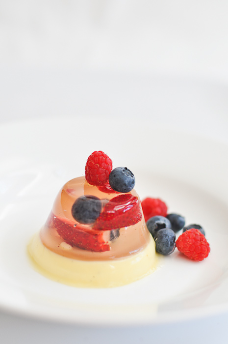 Strawberry Jelly and Panna Cotta