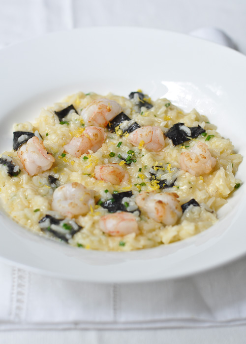 Basmati Risotto with Grilled Prawns