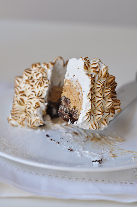 Chocolate and Hazelnut Bombe Alaska