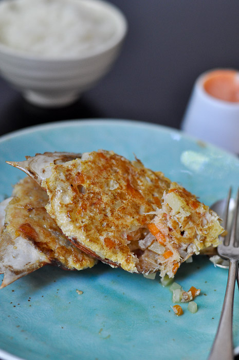 Relleno Alimasag (Philippine Style Stuffed Crab)