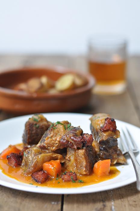 Beef ribs with chorizo