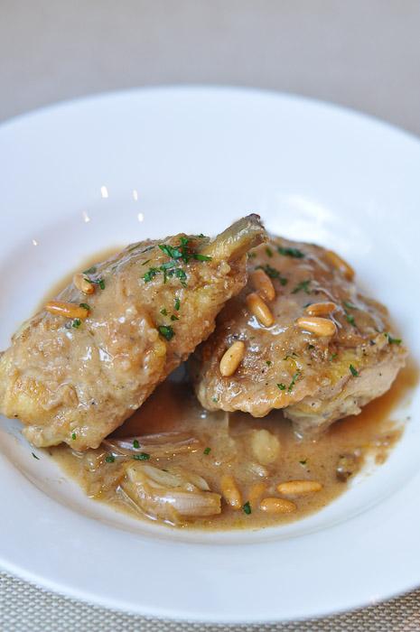 Kitchen Wars: Chicken with Brandy and Pinenuts | Trissalicious