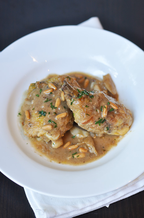 Kitchen Wars: Chicken with Brandy and Pinenuts | Trissalicious