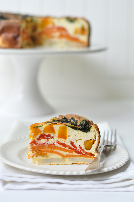 Roast Vegetable Frittata with Ricotta