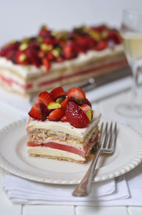 Strawberry and Watermelon Cake