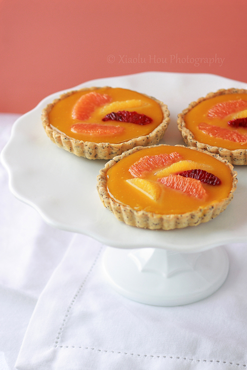 Orange Passionfruit Curd Mini Tarts