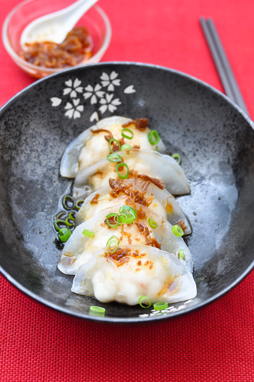 Prawn Dumplings with XO Sauce
