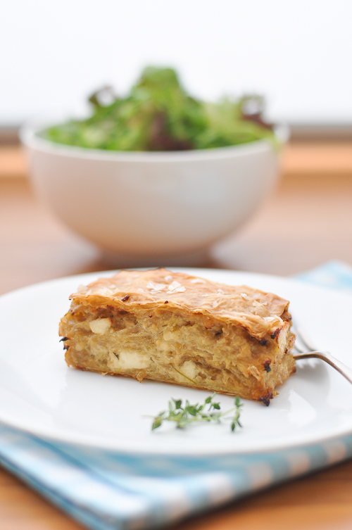 Onion Spanakopita (Braised Onion Pie)
