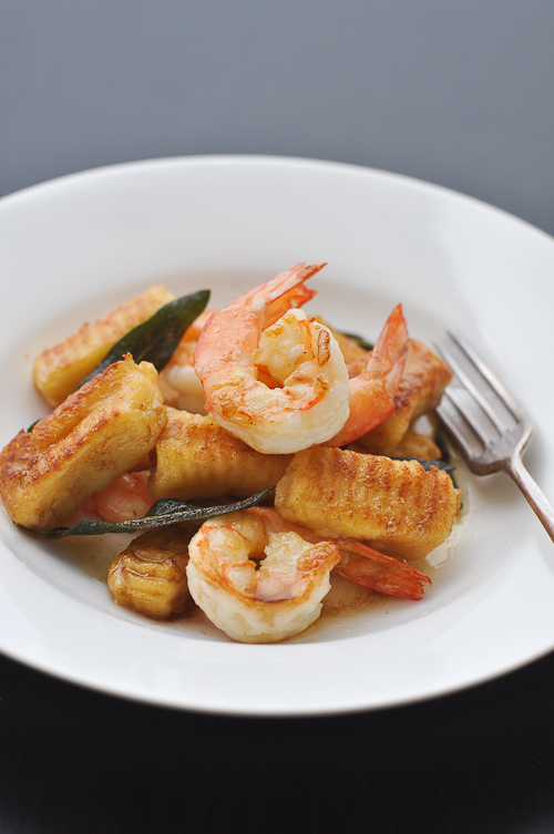 Potato Gnocchi with Prawns, Sage and Burnt Butter