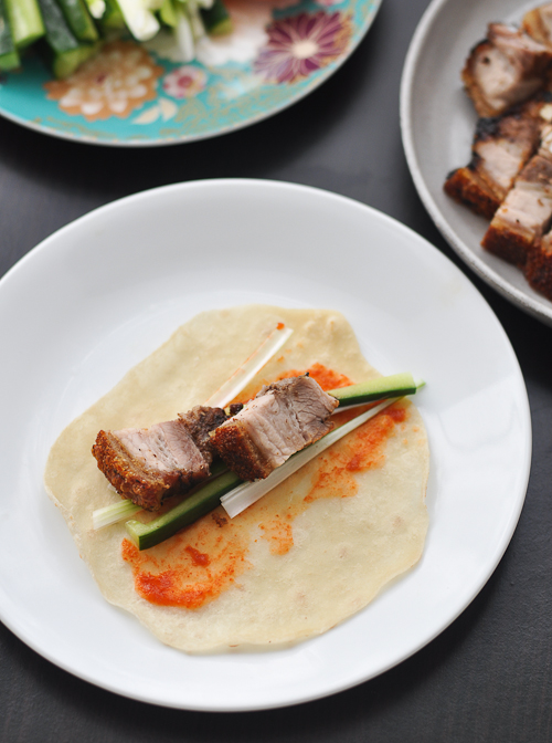 Chinese Roast Pork Belly and Mandarin Pancakes