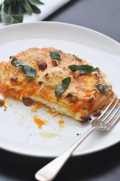 Pumpkin Lasagna…and turning vegetarian | Trissalicious