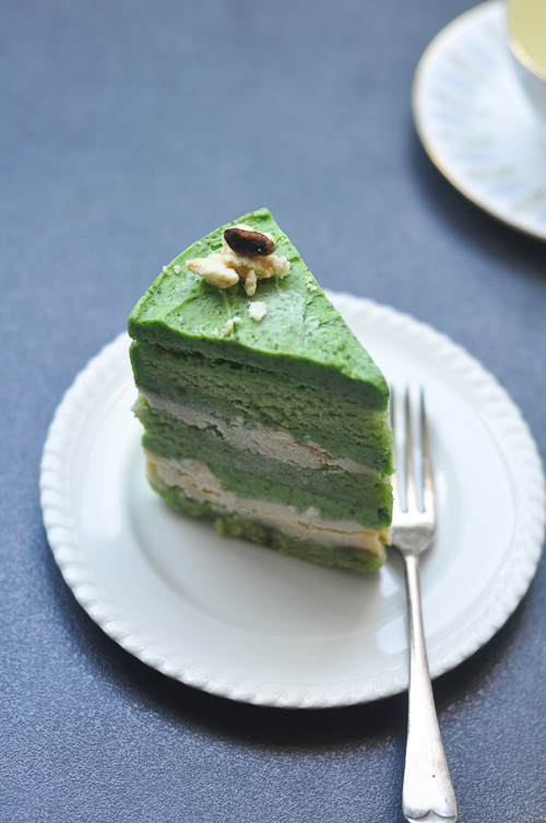 Pistachio Cake, Lemon Curd, Milk Crumbs