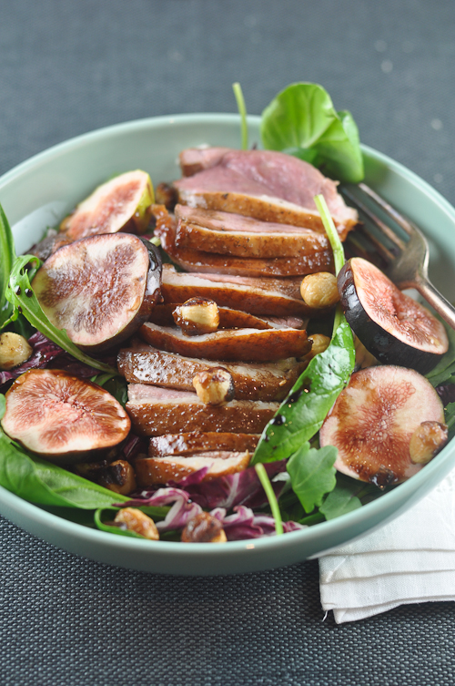 Duck Breast Salad with Figs and Hazelnuts