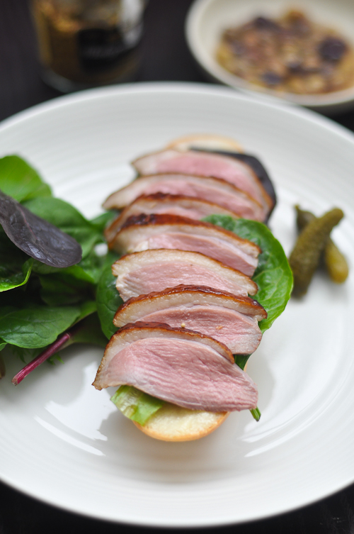 Duck Baguette - Smoked and Sous Vide