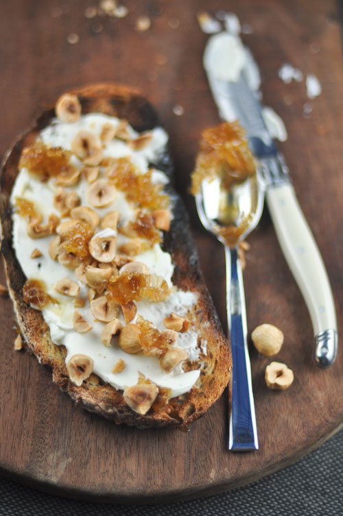 Hazelnut, Labneh and Honey Toast